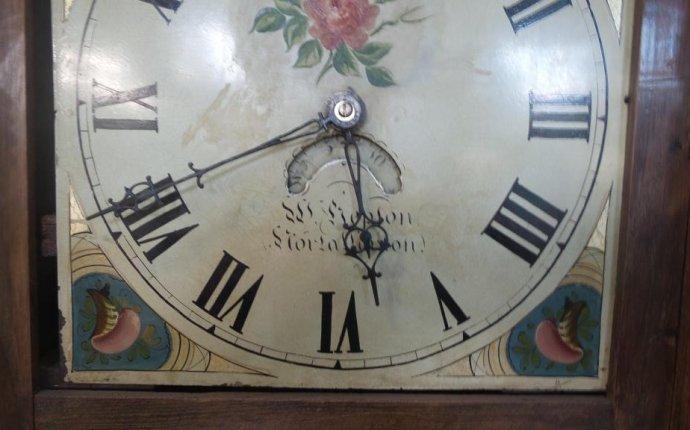 Английские напольные часы с датой. 1800е гг