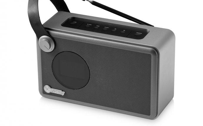Будильник с радио Whirl Bluetooth®. Магазин рекламных сувениров
