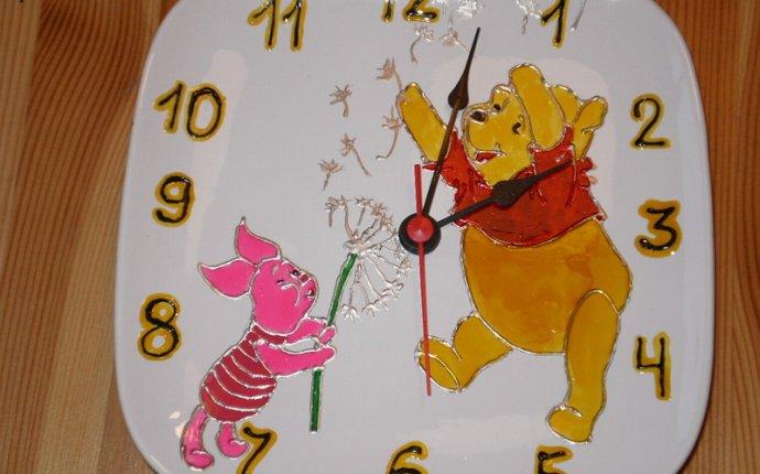 Часы из тарелки своими руками из картона фото — Moovia.ru