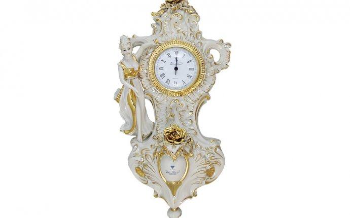 Часы настенные (белые с золотом) - SB6872AL Sabadin Италия Фарфор
