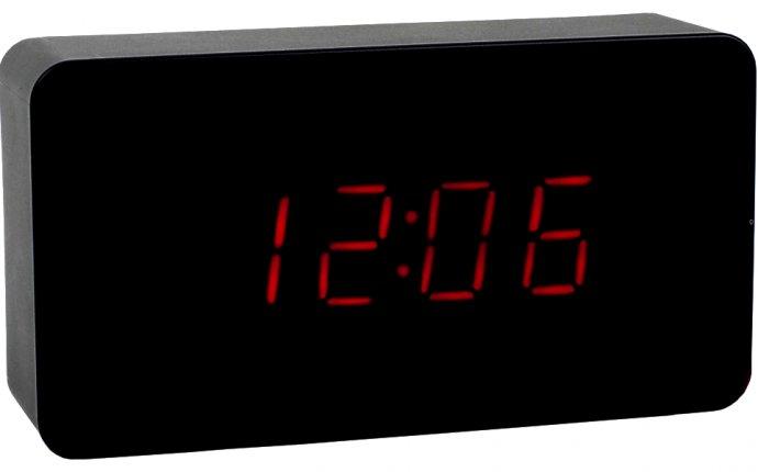 Электронные часы с датой, будильником и термометром купить оптом в