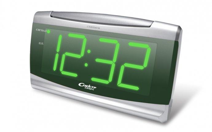 Электронные сетевые настольные часы-будильник Спектр СК 2201-С-З