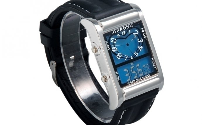 G1203 Rectangle Dial Stylish LED Digital Watch with LED Backlight