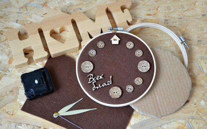 Инструкция по изготовлению уютных часов своими руками