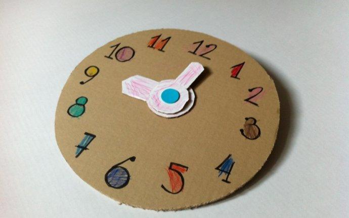 Как из картона сделать часы с вращающимися