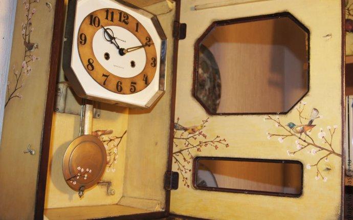 Купить Большие настенные механические часы с боем Птичьи трели